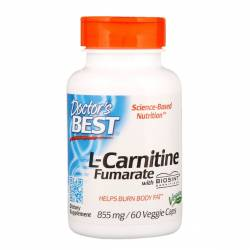 L-Карнитин Фумарат, L-Carnitine Fumarate, Doctor's Best, 855 мг, 60 капсул