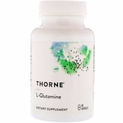 L-Глютамин, L-Glutamine, Thorne Research, 90 Капсул