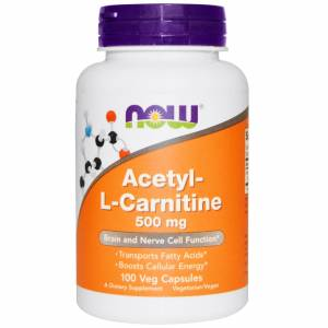 Ацетил-L-карнитин / NOW - Acetyl-L-Carnitine 500mg (100 caps)