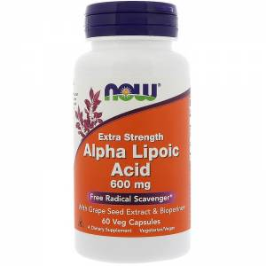 Альфа-липоевая кислота / NOW - Alpha Lipoic Acid 600mg (60 caps)