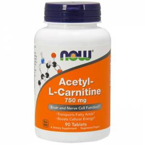 Ацетил-Л-Карнитин / NOW - Acetyl-L-Carnitine 750mg (90 tablets)