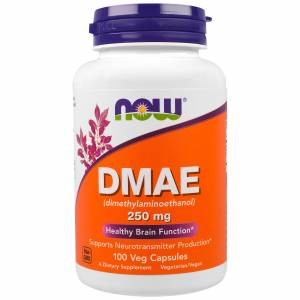 DMAE (диметиламиноэтанол) 250мг, Now Foods, 100 гелевых капсул / NF-3090