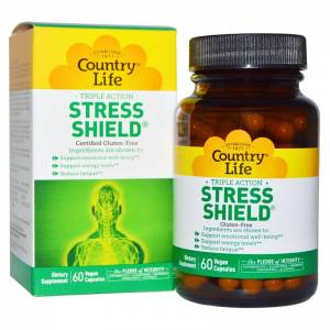 Антистрессовый Энергетический Комплекс, Stress Shield, Country Life, 60 гелевых капсул