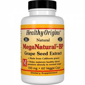 Экстракт Семян Винограда 150мг, MegaNatural-BP, Healthy Origins, 60 гелевых капсул / HO57905