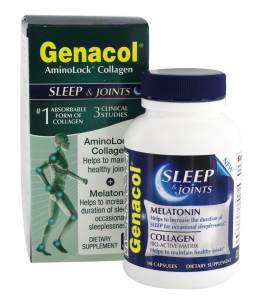 Коллаген, AminoLock, Genacol SLEEP & JOINTS, 90 капсул