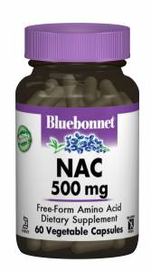 NAC (N-Ацетил-L-Цистеин) 500мг, Bluebonnet Nutrition, 60 гелевых капсул
