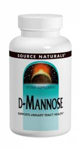 D-Манноза 500мг, Source Naturals, 60 капсул
