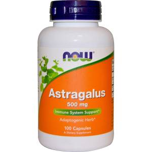 Астрагал, Astragalus, Now Foods, 500 мг, 100 капсул