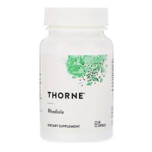 Родиола, Rhodiola, Thorne Research, 60 капсул