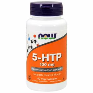 5-HTP (Гидрокситриптофан) 100мг, Now Foods, 60 гелевых капсул
