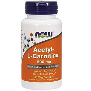 Ацетил-L Карнитин, Acetyl-L Carnitine, Now Foods, 500 мг, 50 капсул